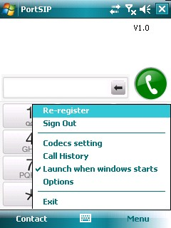 Windows Mobile VoIP SIP