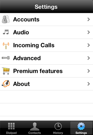 iphone voip configuration